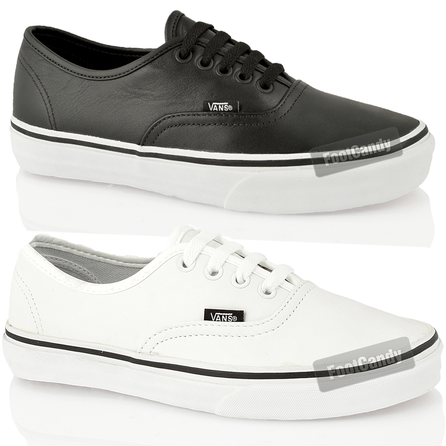 vans mens black leather