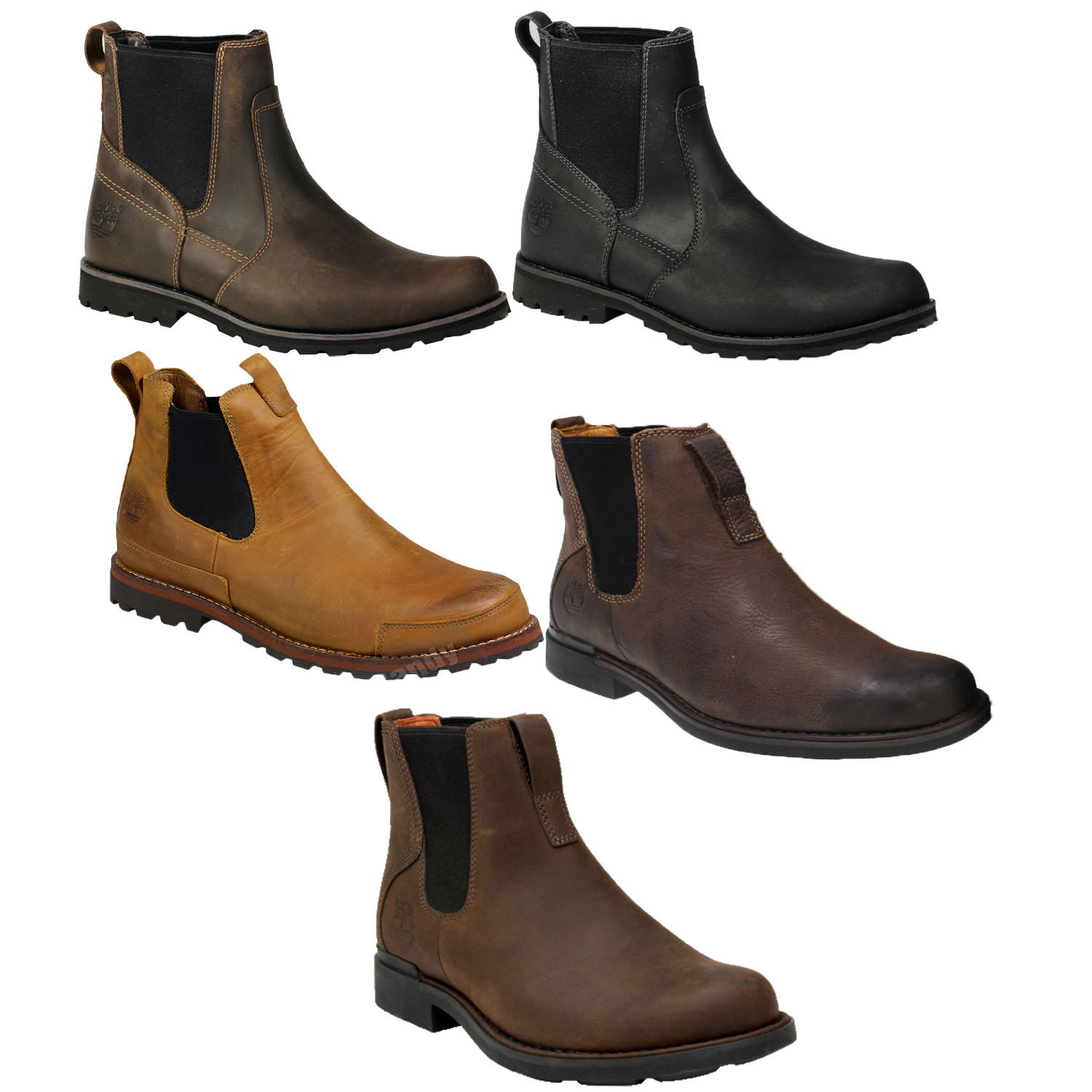 39a6f3596d2 MENS TIMBERLAND 84588 84589 5509R 77593 73170 CHELSEA PULL ON LEATHER ANKLE  BOOT | eBay