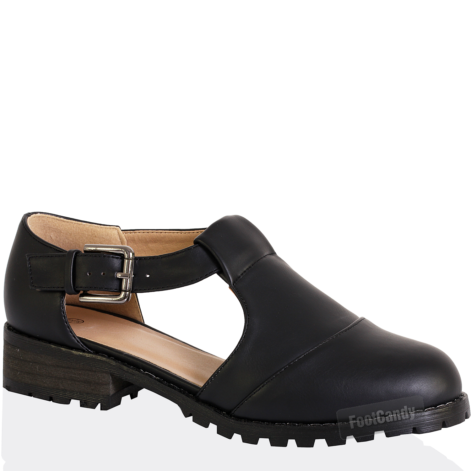 WOMENS-LADIES-MARY-JANE-CUT-OUT-CHUNKY-CLEATED-LOW-HEEL-ANKLE-STRAP-BUCKLE-SHOES