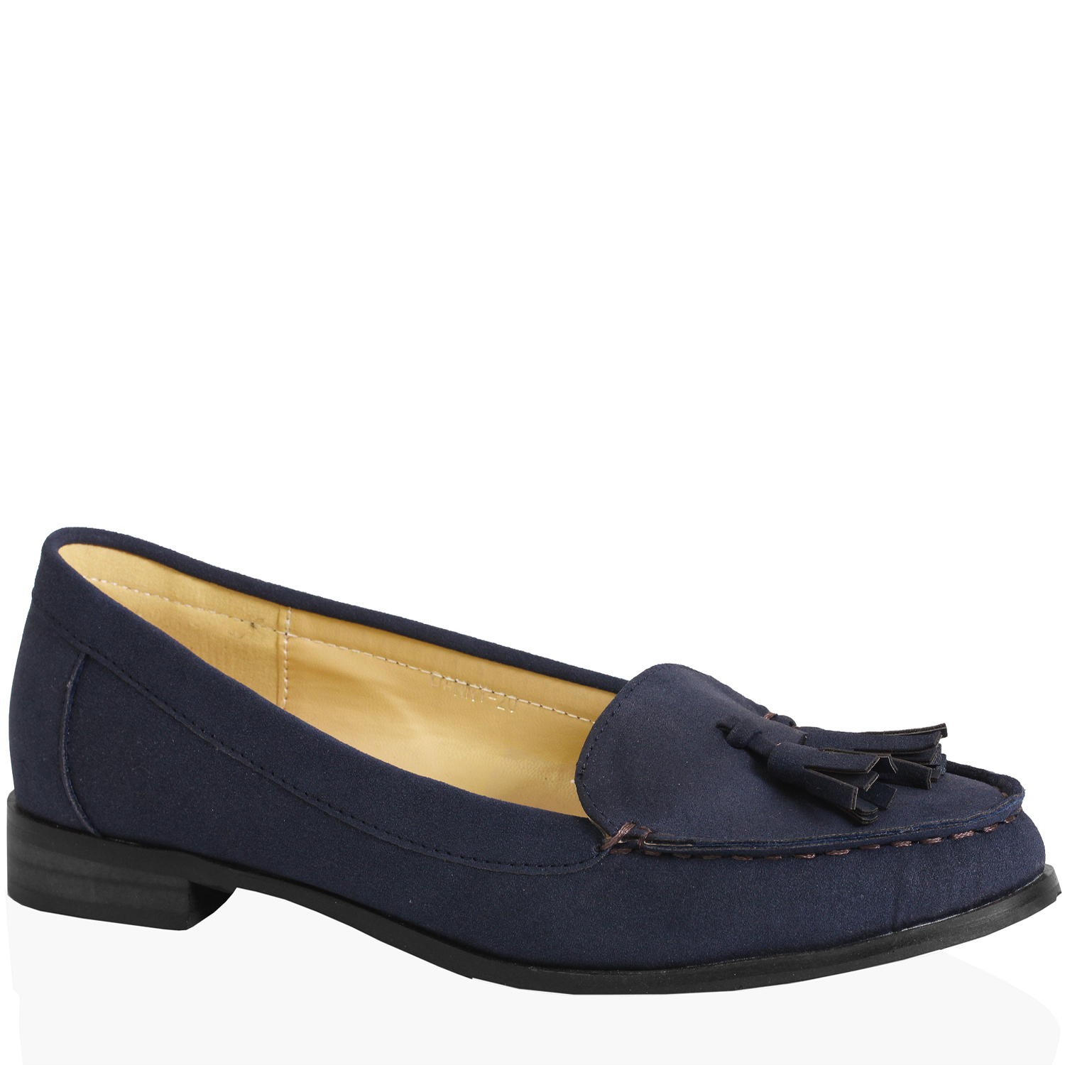 WOMENS LADIES CASUAL OFFICE FLAT CROC FAUX NUBUCK LEATHER TASSEL LOAFERS SHOES