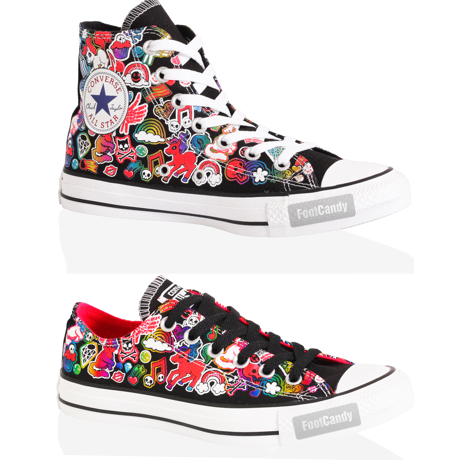 CONVERSE-ALL-STAR-CHUCK-TAYLOR-HI-LO-TOP-CANVAS-BLACK-MULTI-TRAINERS-BOOTS-SIZE