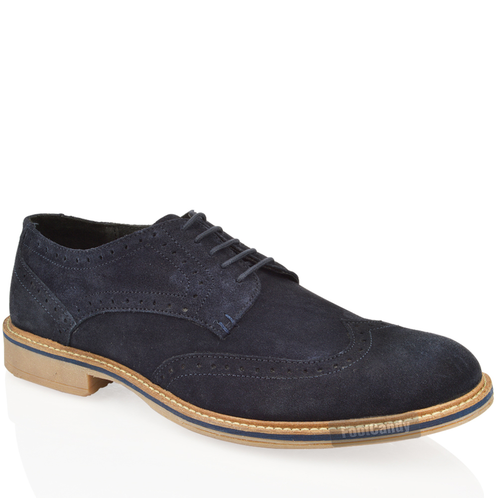 mens real leather suede lace up office smart vintage