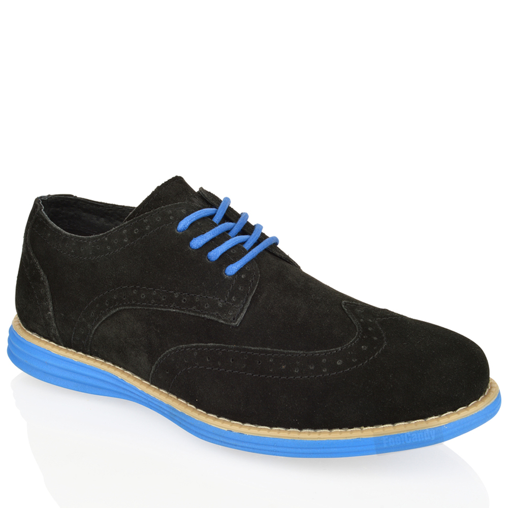 MENS-BOYS-LEATHER-SUEDE-LACE-UP-WORK-COMFORT-SMART-BLACK-BROGUE-SHOES-BOOTS-SIZE