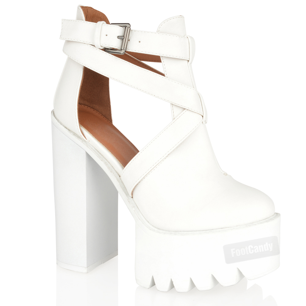 White chunky heels - Heels : Mince His Words