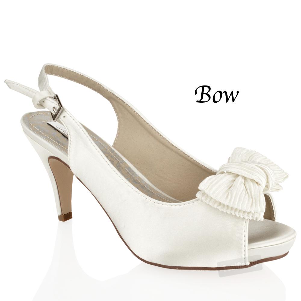Mid Heel White Shoes - Is Heel