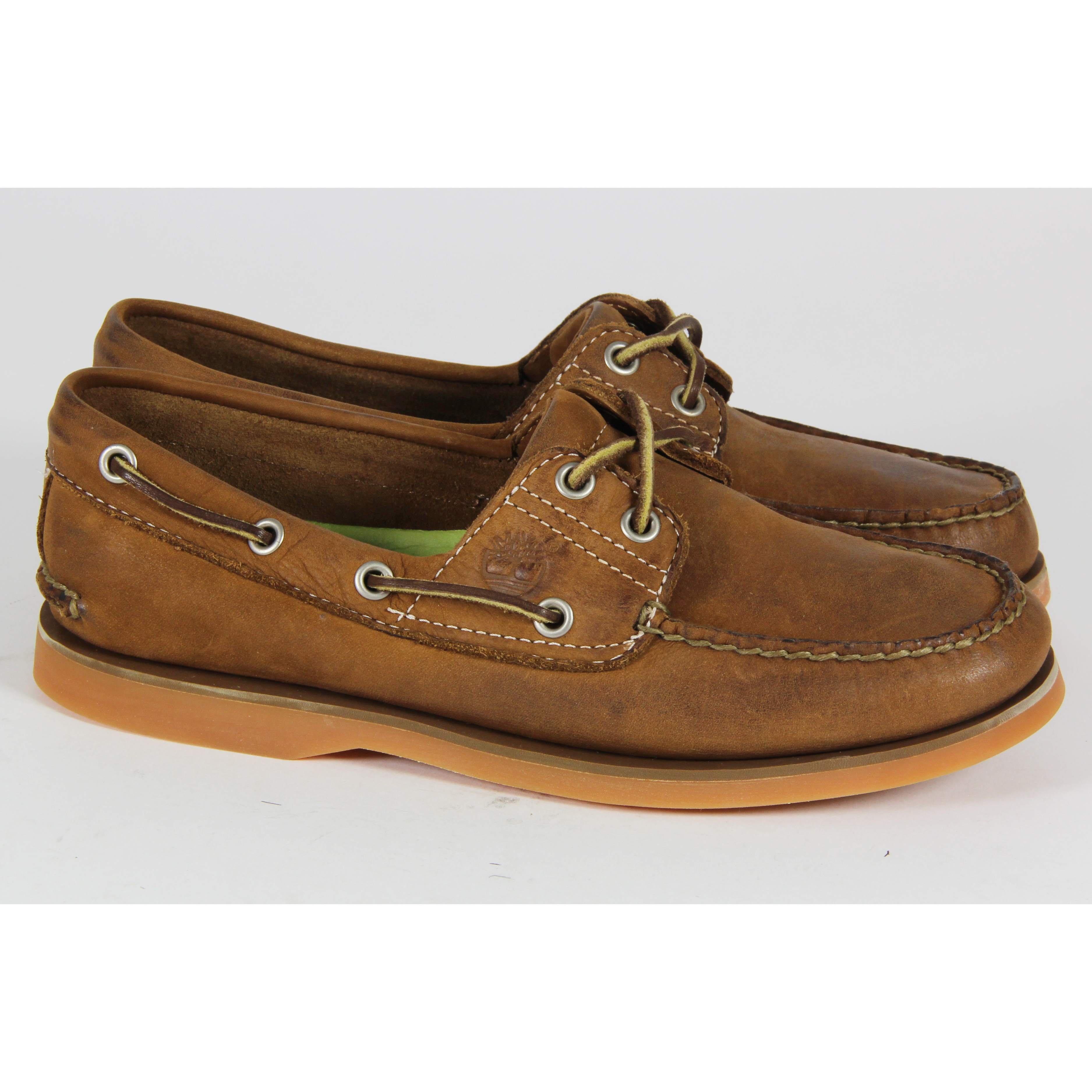 Mens Timberland Casual Lace Up 2 Eye Boat Shoes Leather