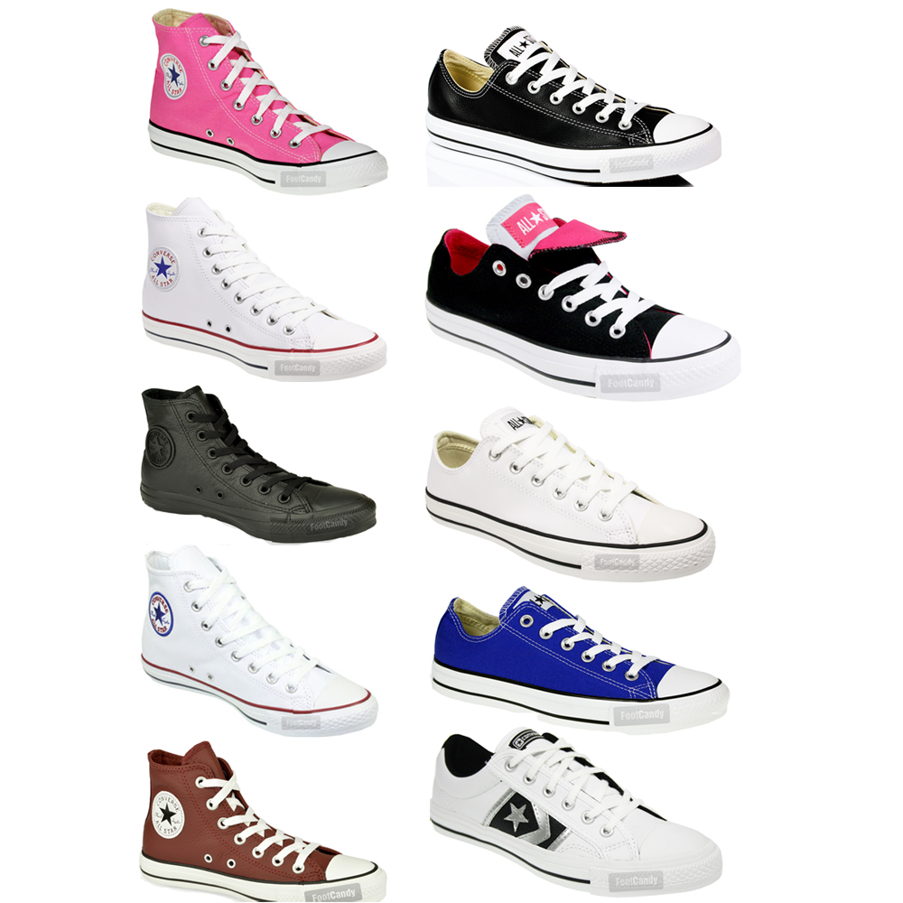 CONVERSE-ALL-STAR-CT-HI-LO-TOP-LEATHER-CANVAS-TRAINERS-BOOTS-SHOES-SIZE-7