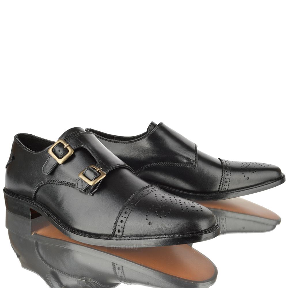 Office Mens Smart Double Buckle Shoes
