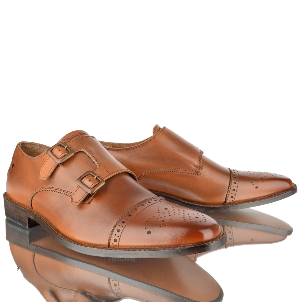 Mens Leather Casual Formal Office Work Monk Strap