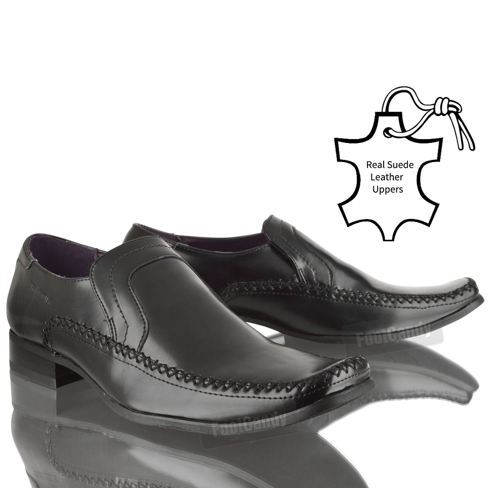 MENS-LAMBRETTA-LEATHER-CASUAL-SLIP-ON-FORMAL-OFFICE-WORK-BLACK-SHOES-SIZE