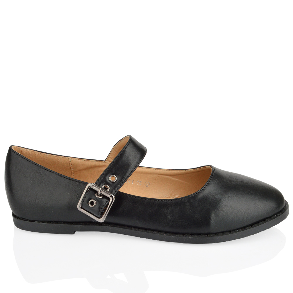 WOMENS LADIES FLATS OFFICE BOW STRAP