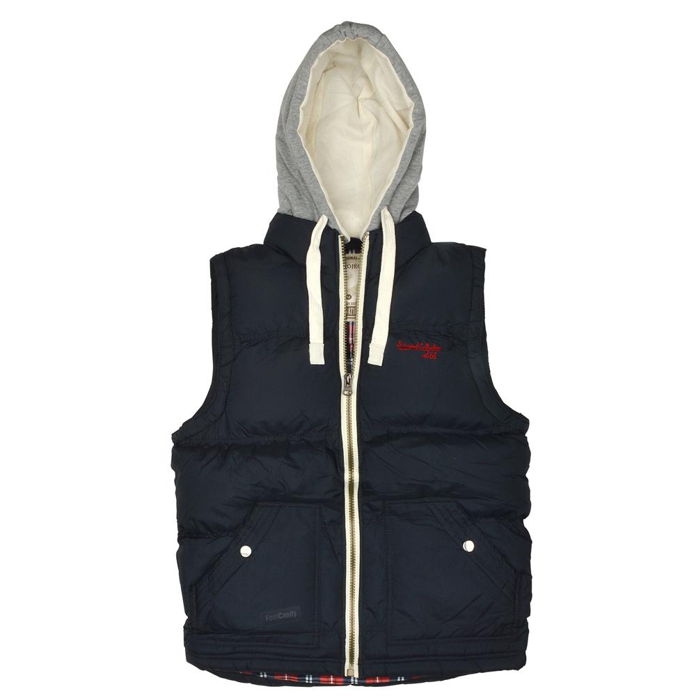 mens boys quilted body warmer warm gilet padded zip hood. Black Bedroom Furniture Sets. Home Design Ideas