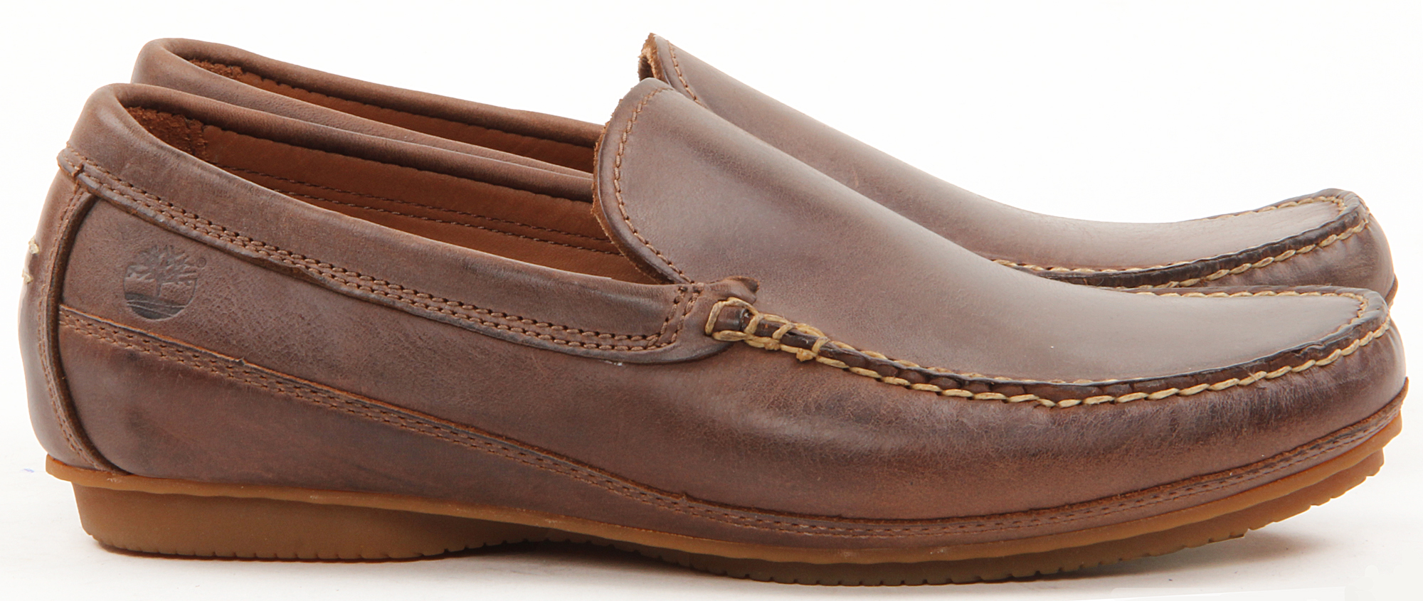 Mens Tan Timberland Boat Shoes