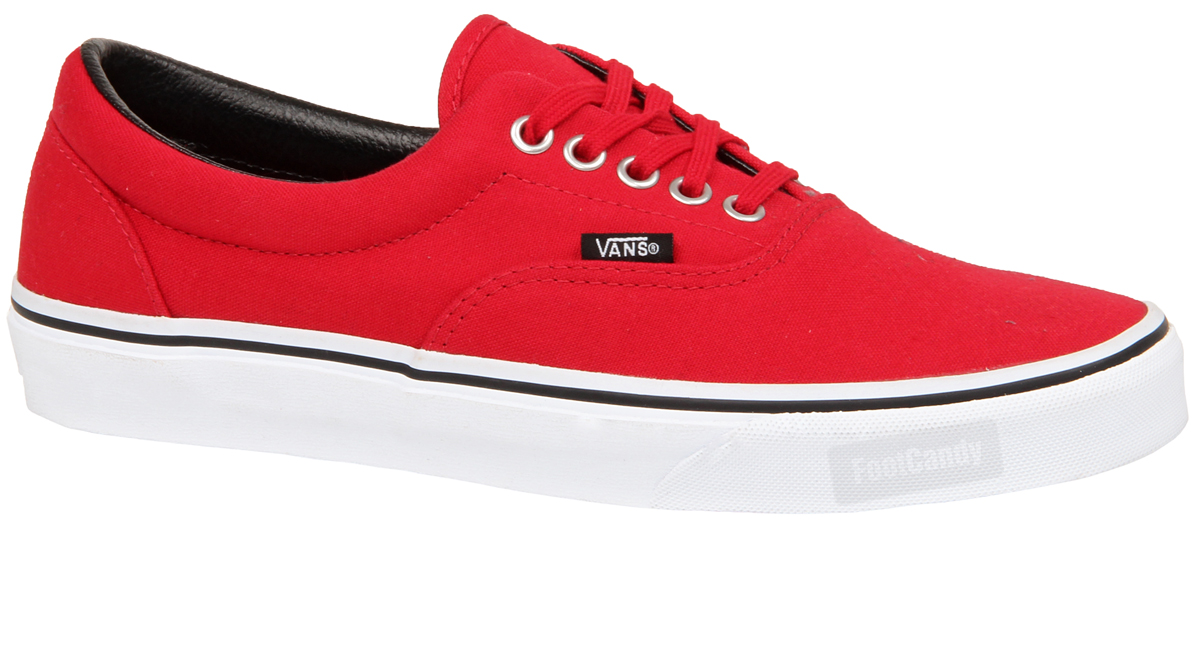 vans era red navy