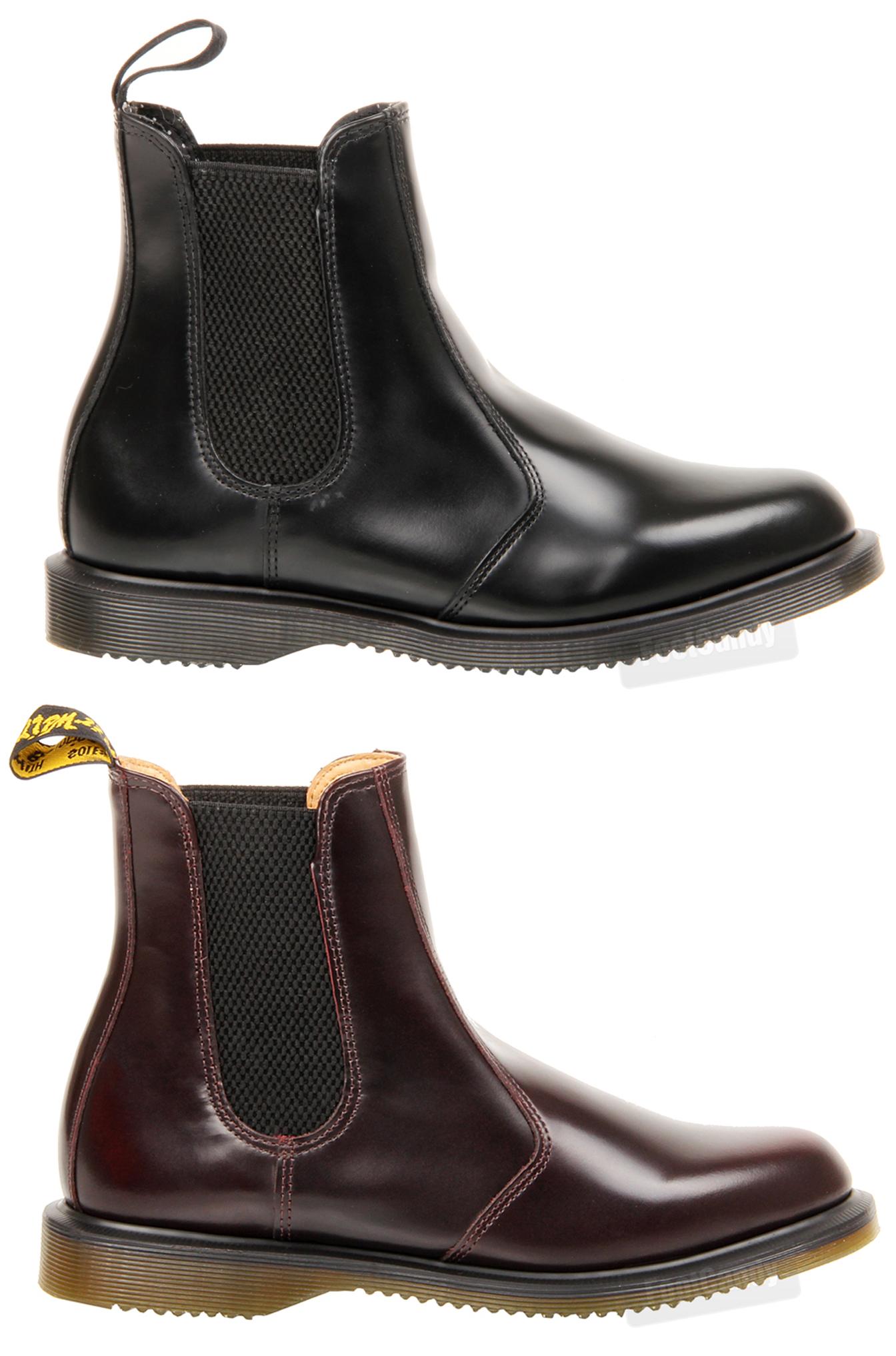 womens ladies dr martens flora ankle chelsea gusset kensington black boots size ebay. Black Bedroom Furniture Sets. Home Design Ideas