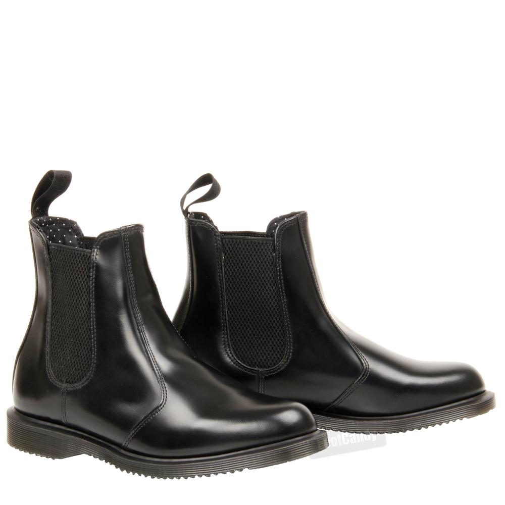 womens ladies dr martens flora ankle chelsea gusset kensington black boots size. Black Bedroom Furniture Sets. Home Design Ideas