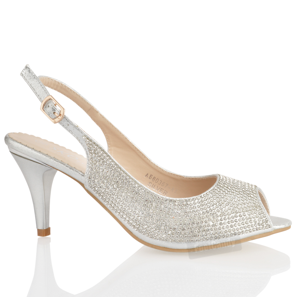 Womens Gold Glitter Shoes With Heel Size