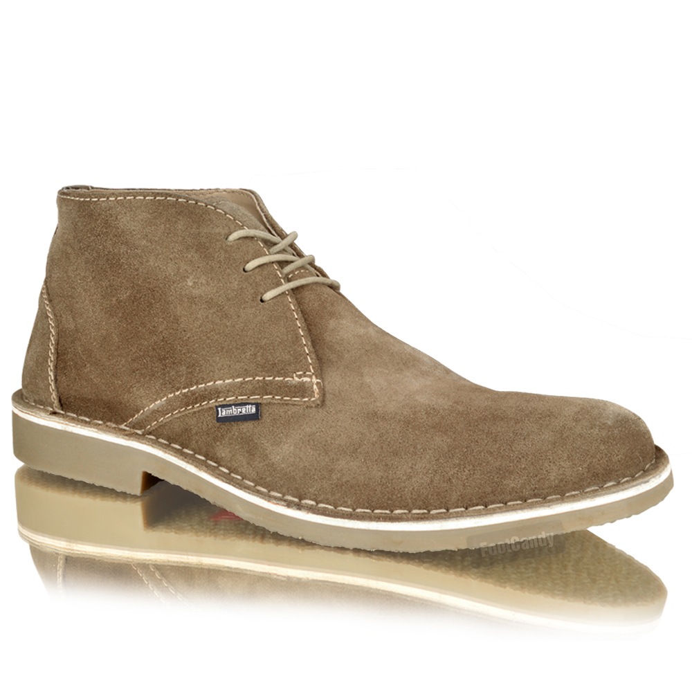 mens boys suede leather casual desert chukka lace up work