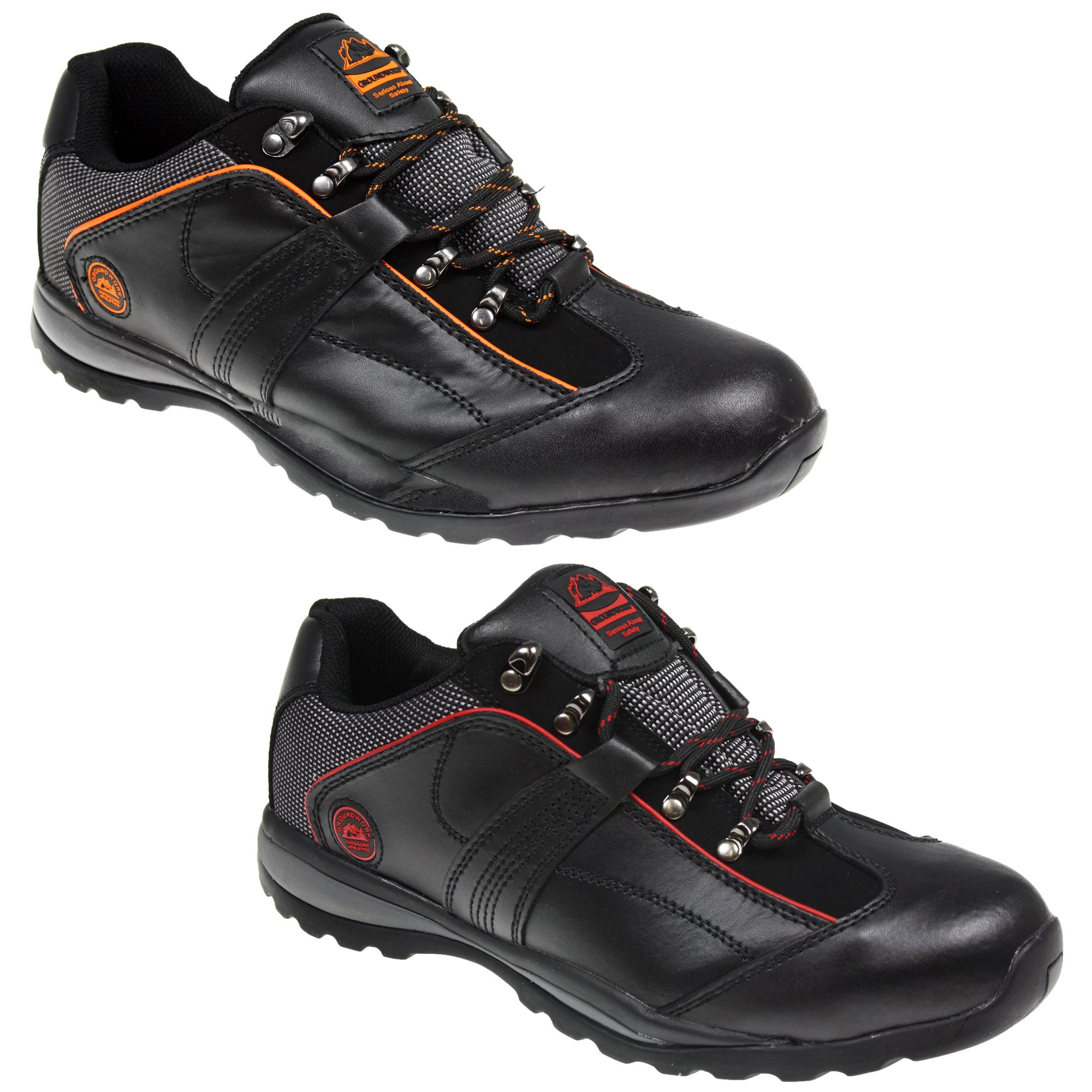 mens safety steel toe cap leather work trainers shoes. Black Bedroom Furniture Sets. Home Design Ideas