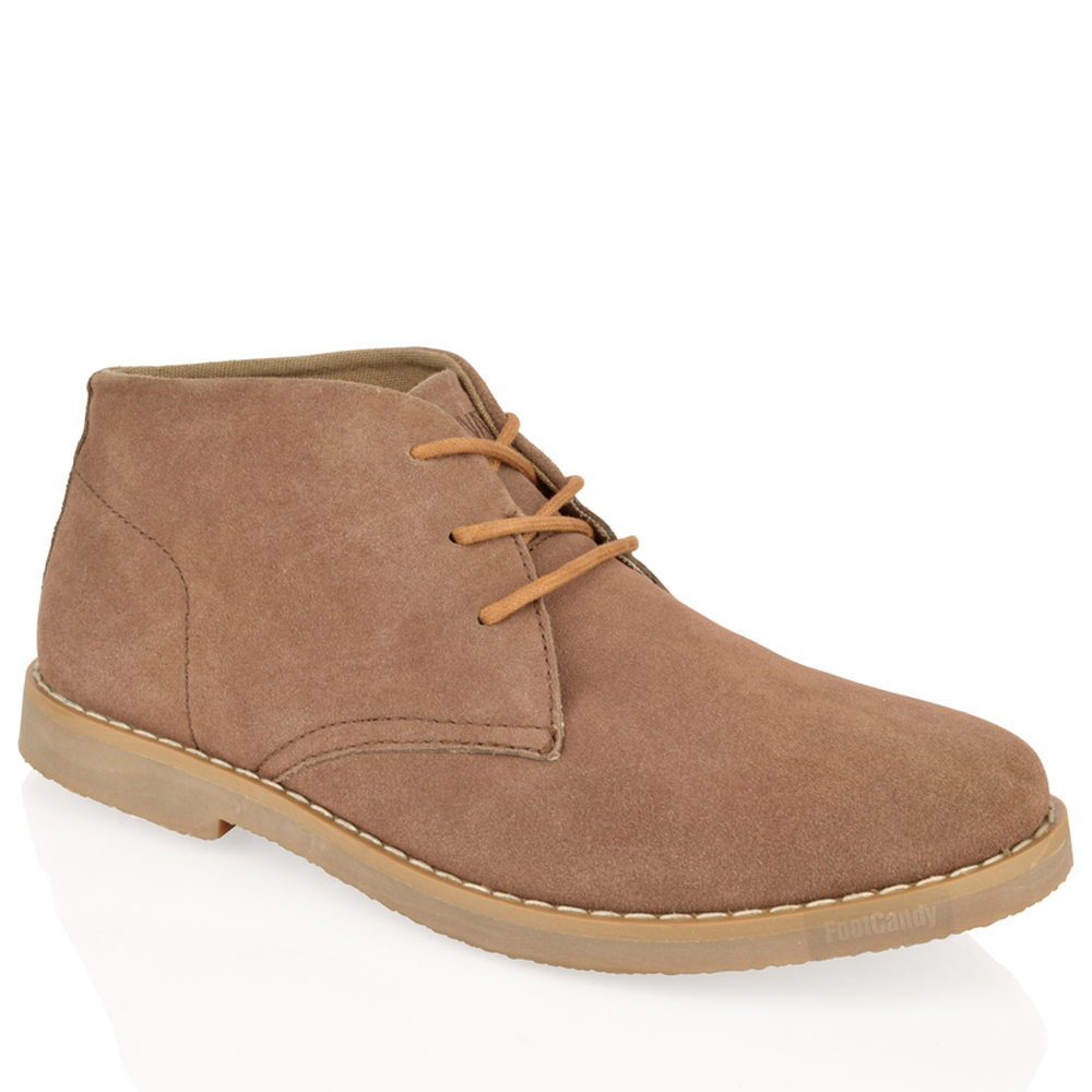 mens boys casual desert suede leather chukka lace up summer comfort boots size ebay. Black Bedroom Furniture Sets. Home Design Ideas
