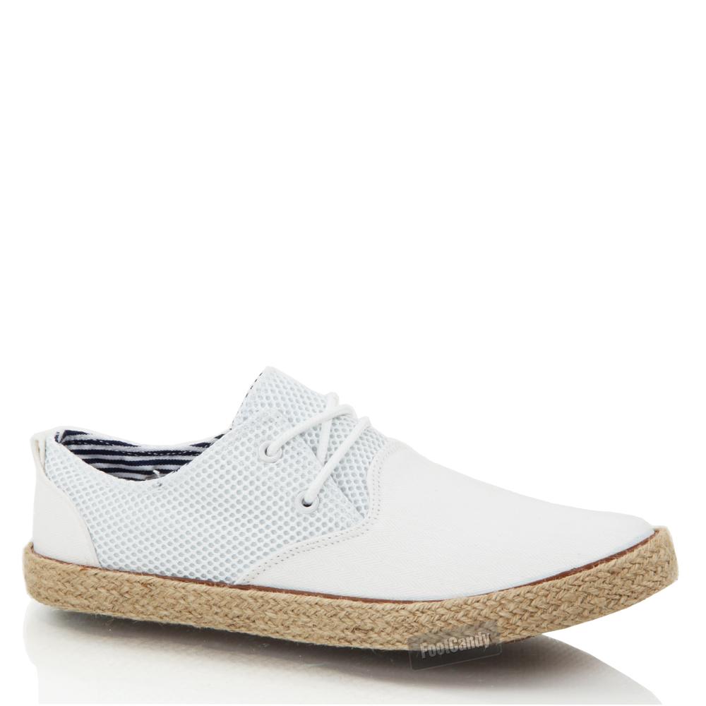 mens boys casual lace smart canvas mesh espadrilles jute summer shoes trainers