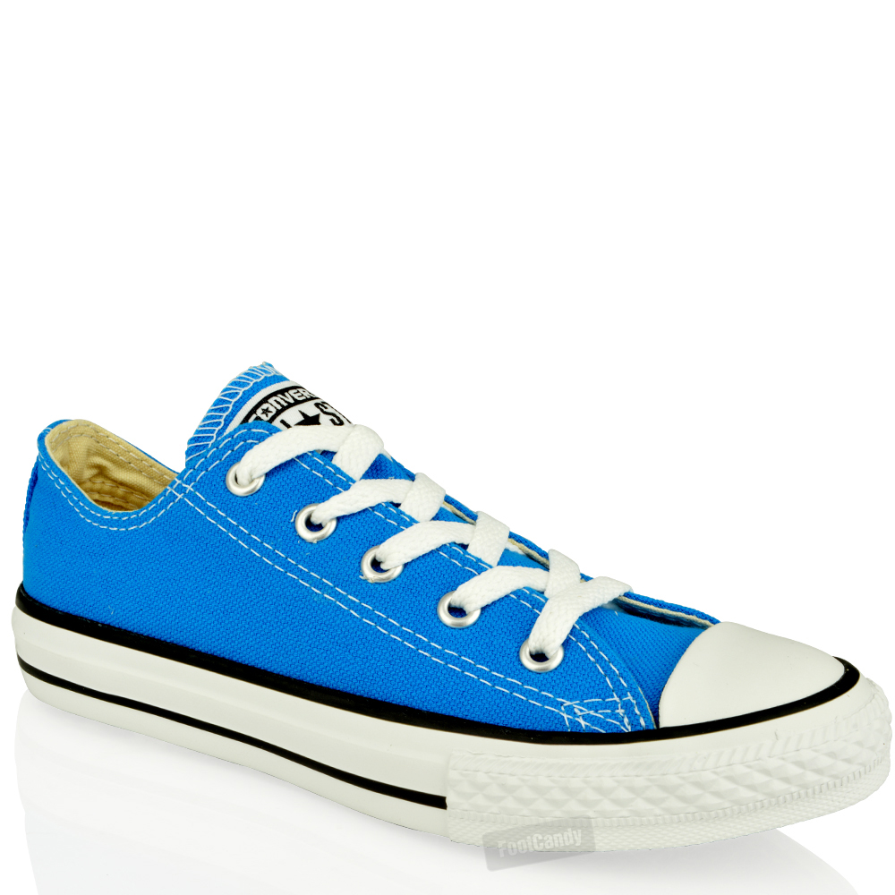 junior converse all canvas lace up skate lo top