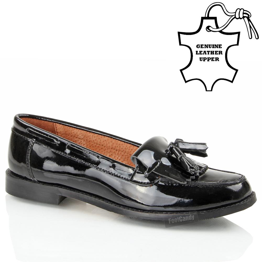 Womens Las Leather Tel Fringe Comfort Slip On