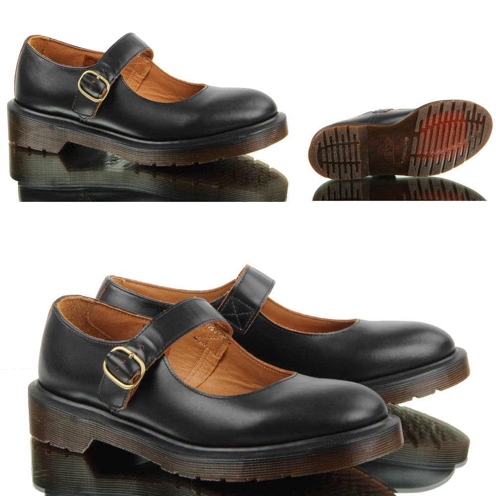 womens dr martens indica black smooth leather