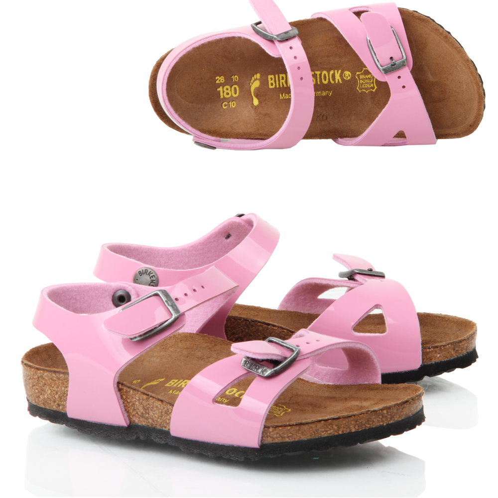 kids girls birkenstock rio kinder flat pink patent leather. Black Bedroom Furniture Sets. Home Design Ideas