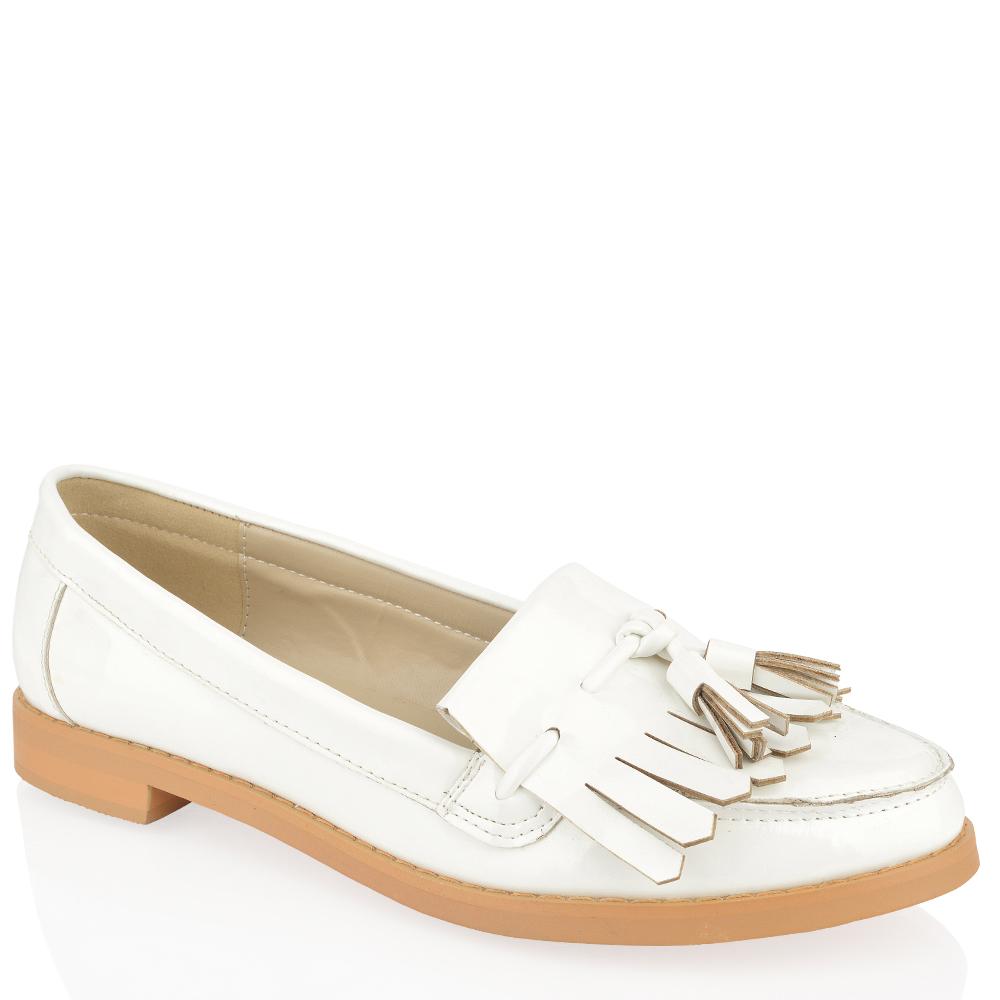 Womens Las Flat Smart Casual Formal Vinatge Loafers