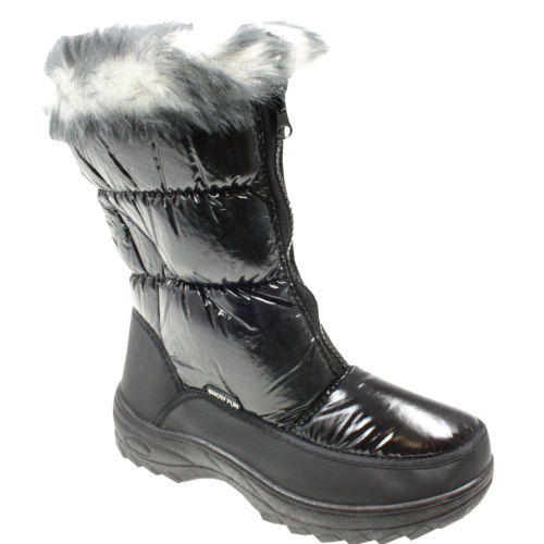 WOMENS-LADIES-WINTER-FUR-LINED-SNOW-MOON-JOGGERS-METALLIC-BOOTS-SIZE-4-5-6-7-8