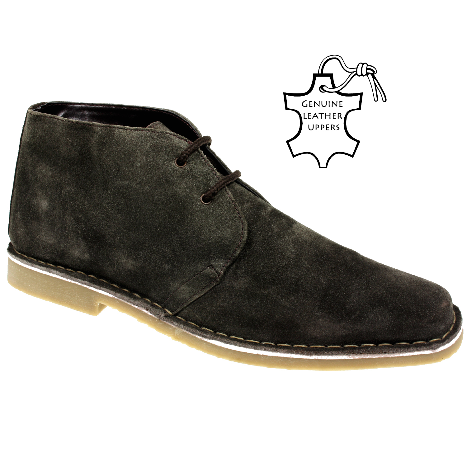 mens leather desert boots gents suede fashion ankle casual
