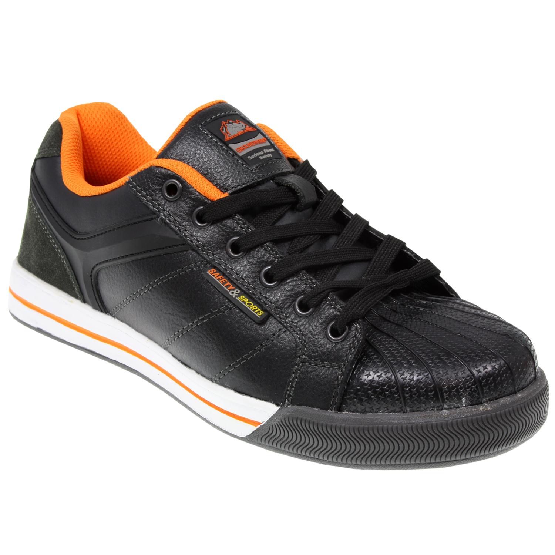 mens steel toe cap leather work safety sport lightweight