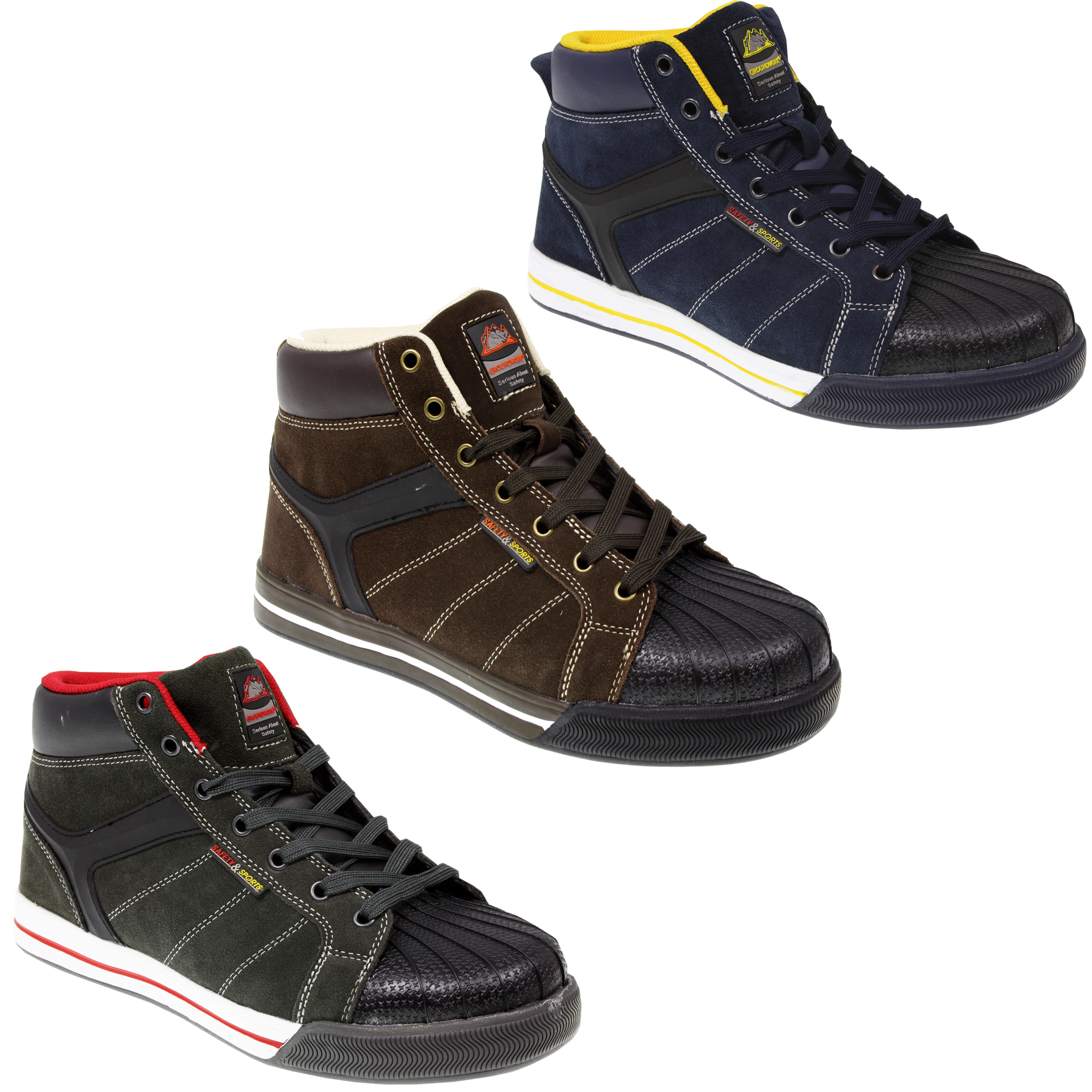 mens steel toe cap suede leather work safety sport