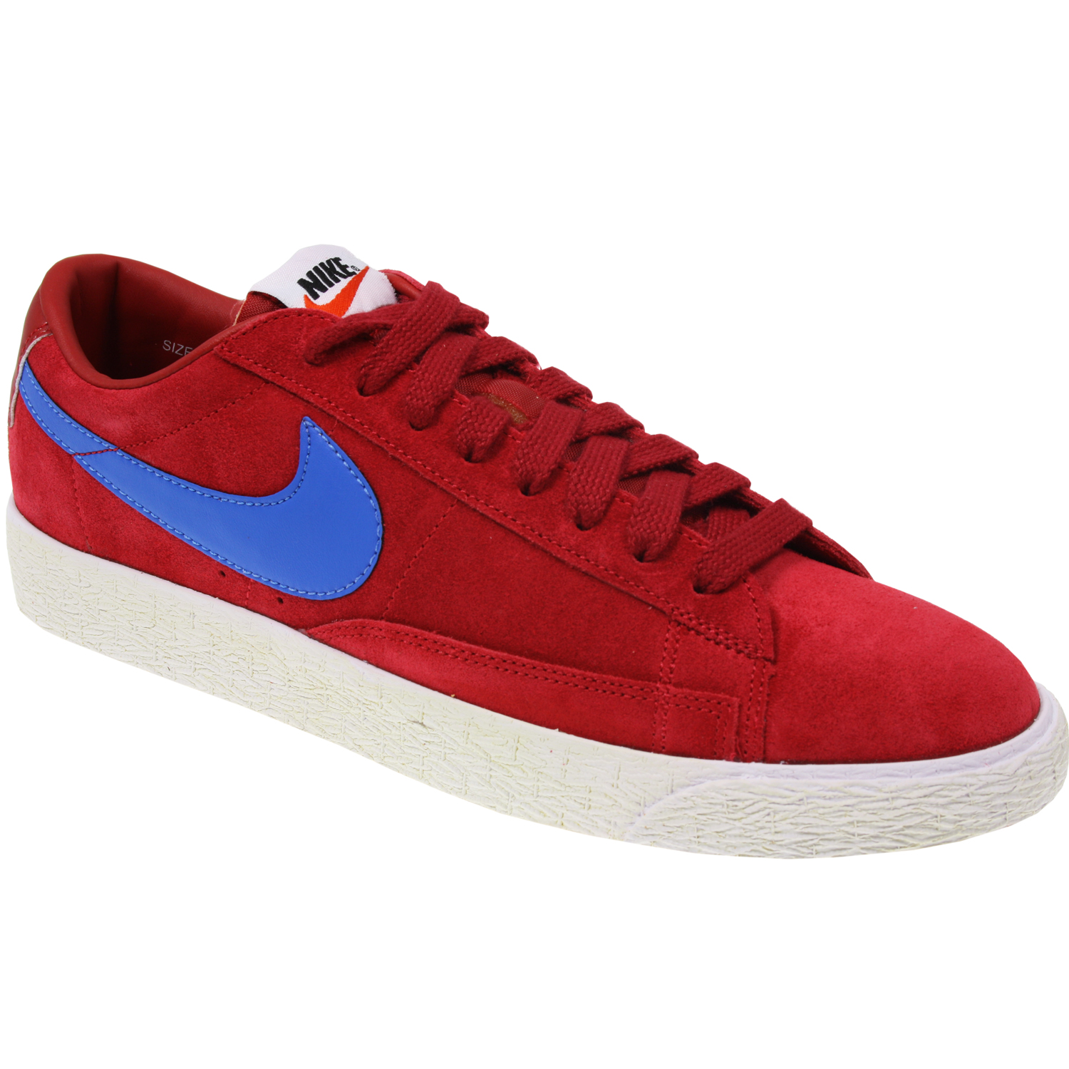 AUTHENTIC NIKE MENS BOYS NIKE BLAZER LOW PREMIUM VINTAGE RED TRAINERS SHOES SIZE | EBay