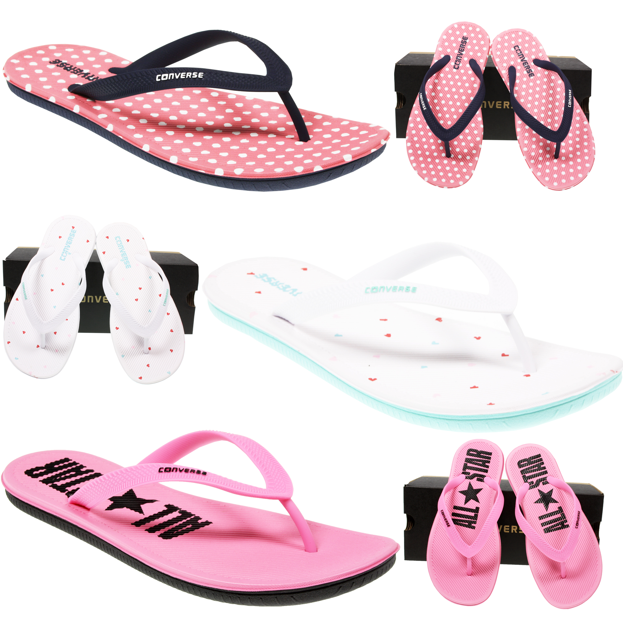 20c1558b9899 CONVERSE WOMENS ALL STAR SANDSTAR CTAS FLIP FLOP THONG SLIPPER ...