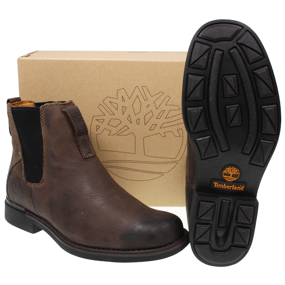 MENS-TIMBERLAND-73170-MT-CITY-BROWN-SLIP-ON-LEATHER-ANKLE-CHELSEA-BOOTS-SIZE