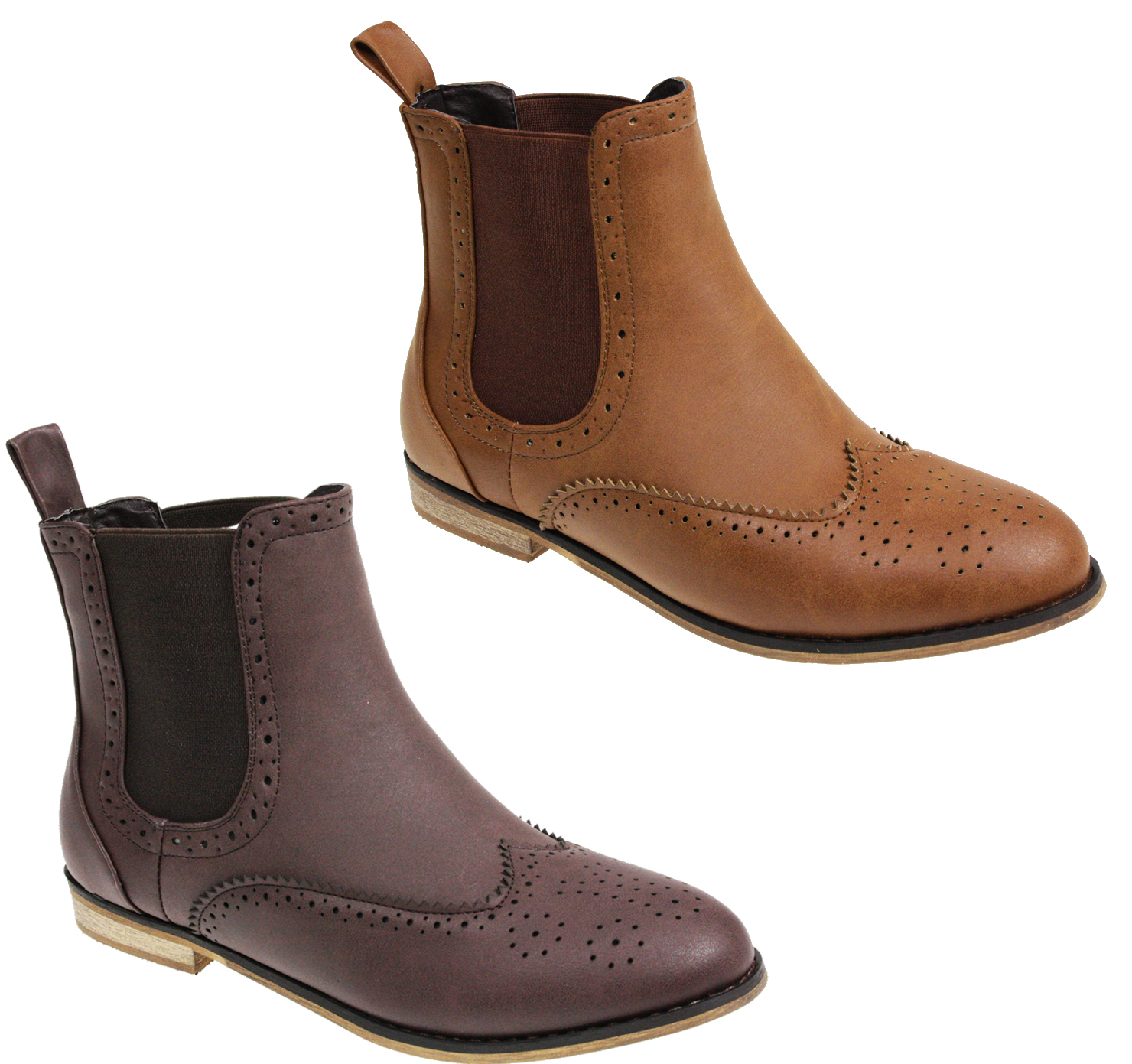 WOMENS-LADIES-FLAT-GUSSET-SLIP-PULL-ON-CHELSEA-RIDING-ANKLE-SHOES-BOOTS-SIZE