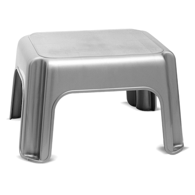 Addis Metallic Finish Kitchen/Garage Step Stool Lightweight Plastic New