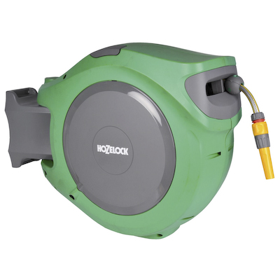 Hozelock Auto Reel 30m Automatic Garden Rewind Wall Mounted Hose Reel