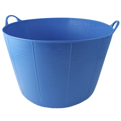 ... Flexible Plastic Extra Large Garden Feed Bucket Tub Blue New eBay