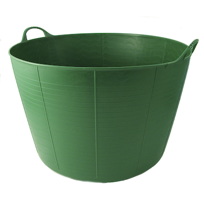 TubTrugs Flexible 75 Litre Plastic Extra Large Garden Feed Bucket Tub Green New