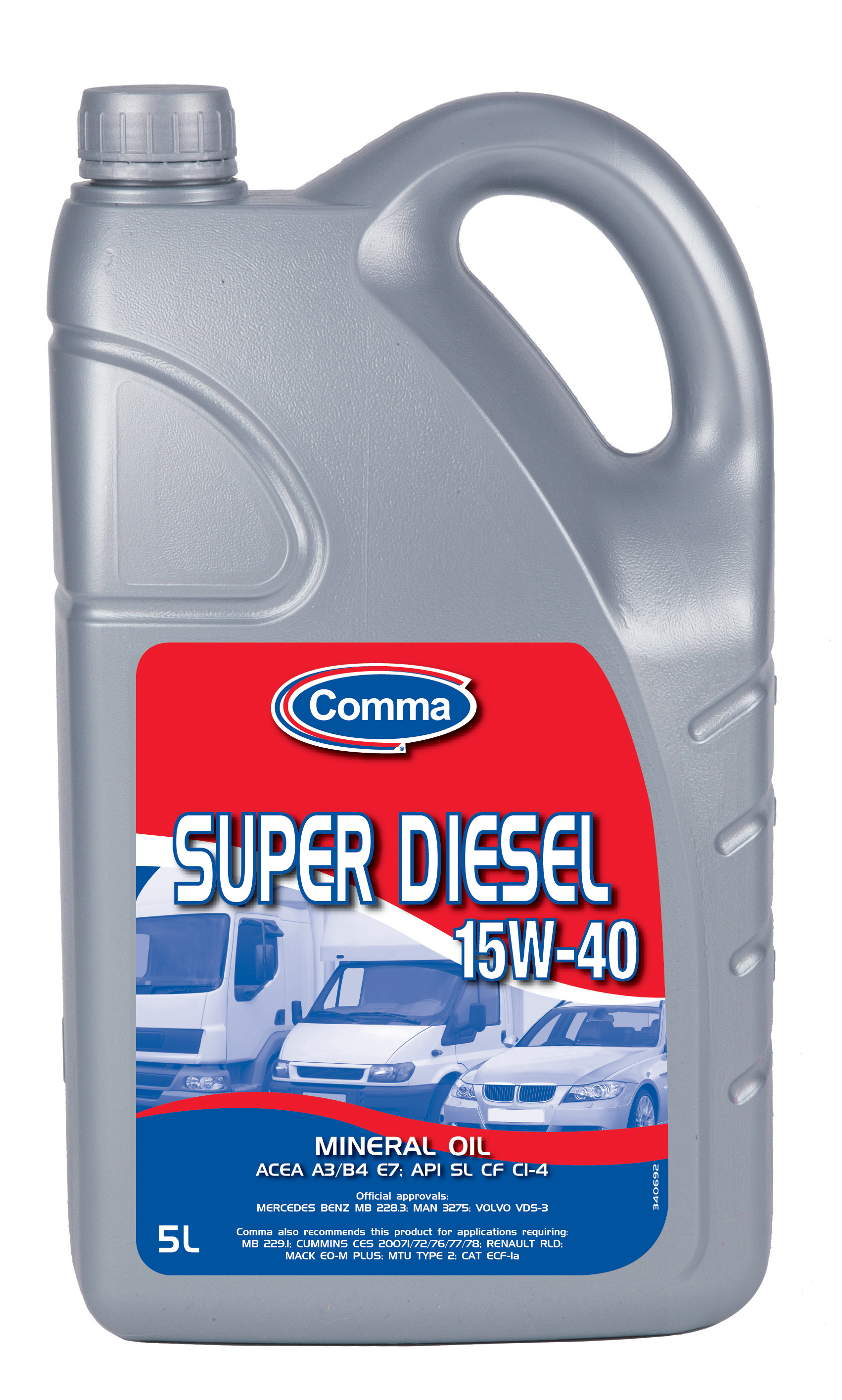 Comma Super Diesel Engine Mineral Mixed Fleet Motor Oil