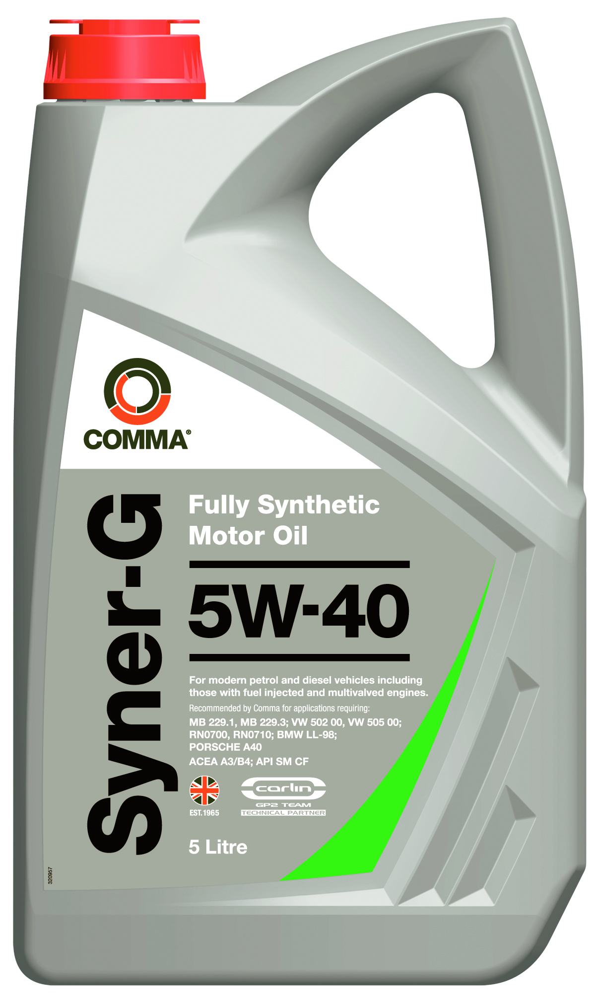 Comma Syner G 5w 40 Fully Synthetic Motor Engine Oil 5