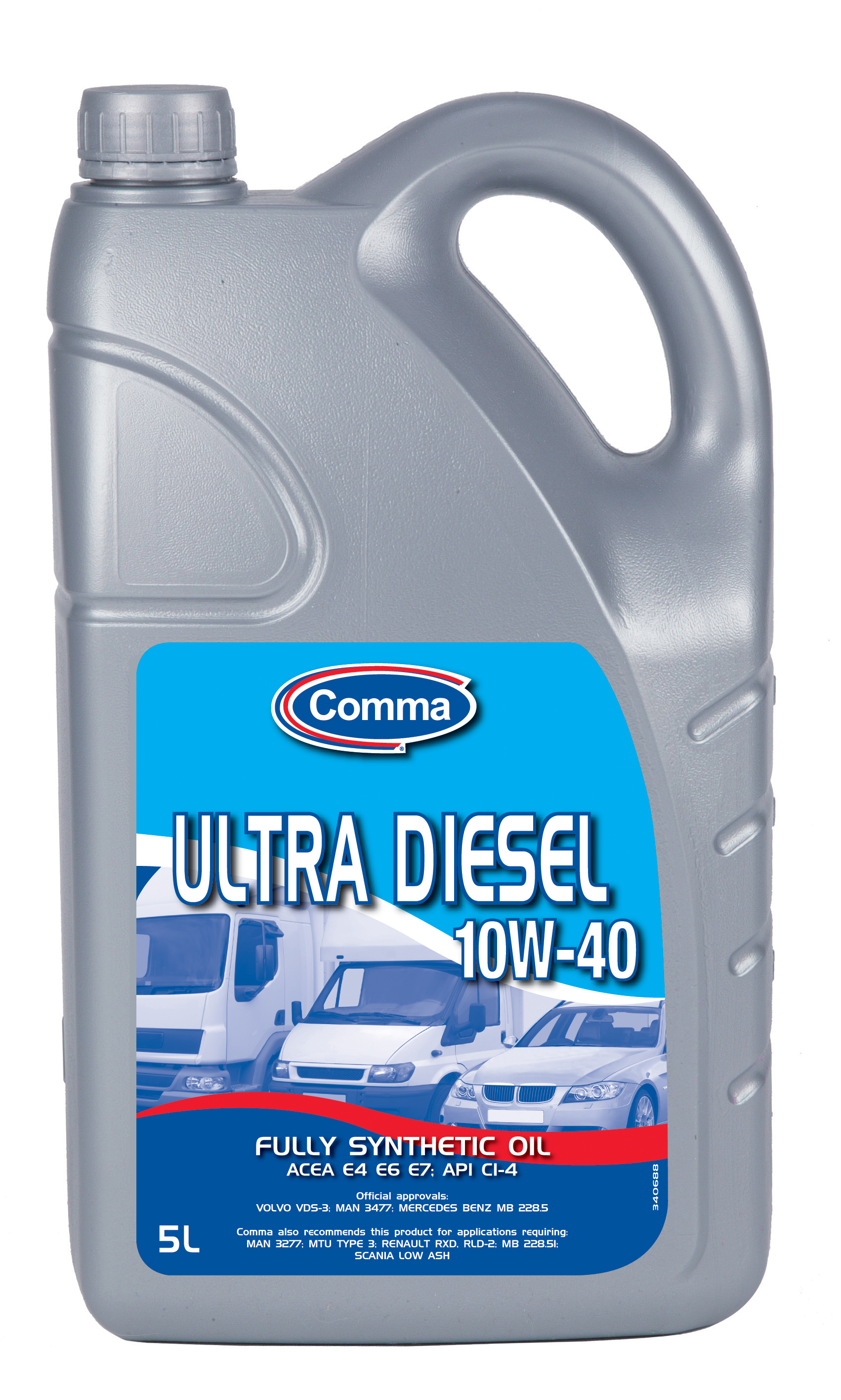 Comma Ultra Diesel 10w 40 Fully Synthetic Engine Motor Oil