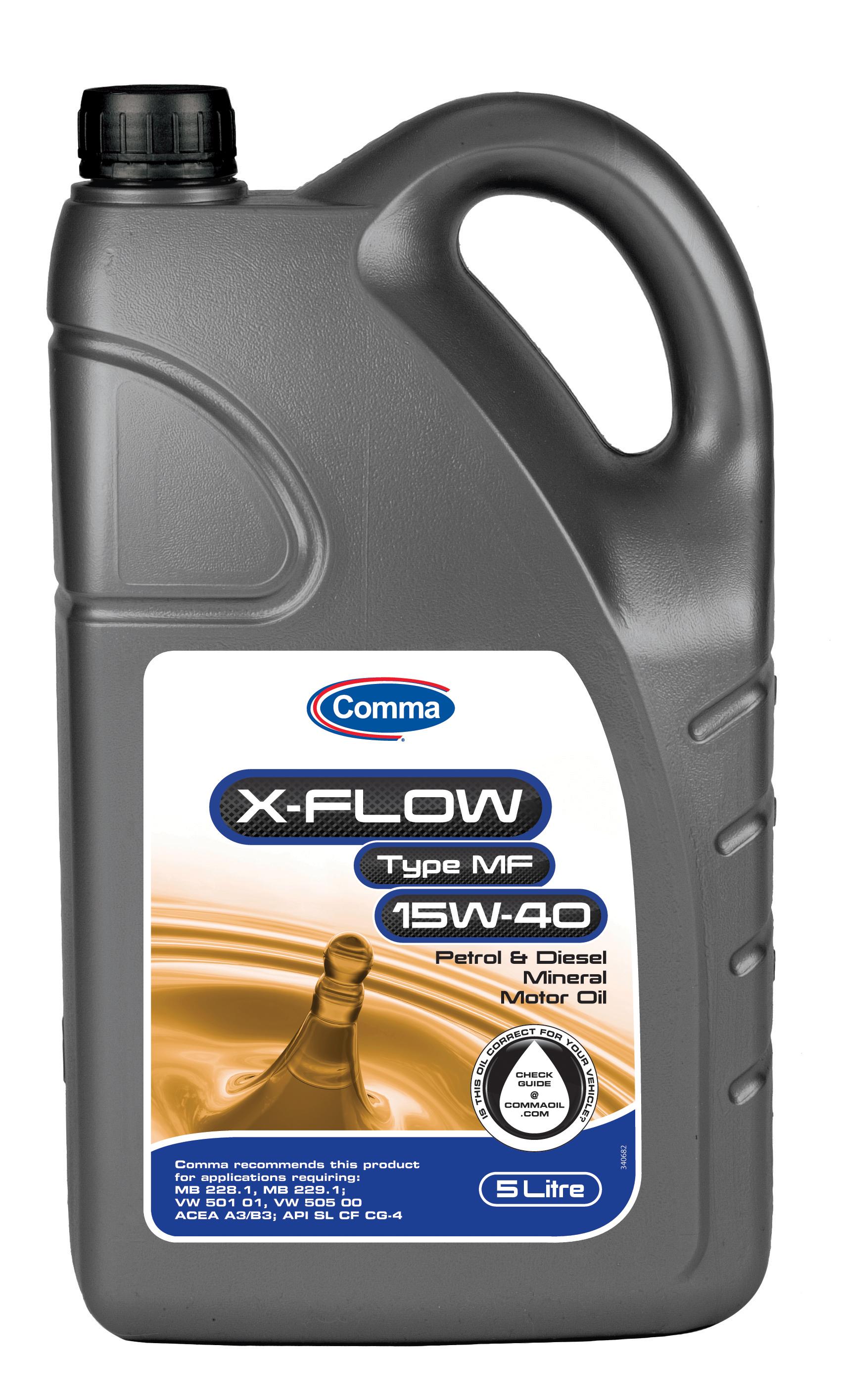 Comma X Flow Type Mf 15w 40 Mineral Motor Engine Oil 5