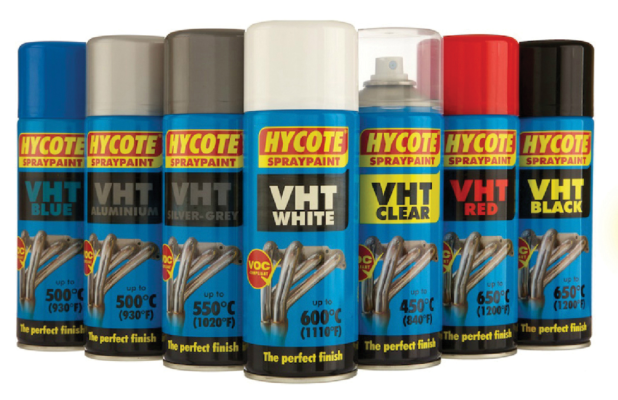hycote silver grey very high temperature spray paint 400ml vht aerosol. Black Bedroom Furniture Sets. Home Design Ideas