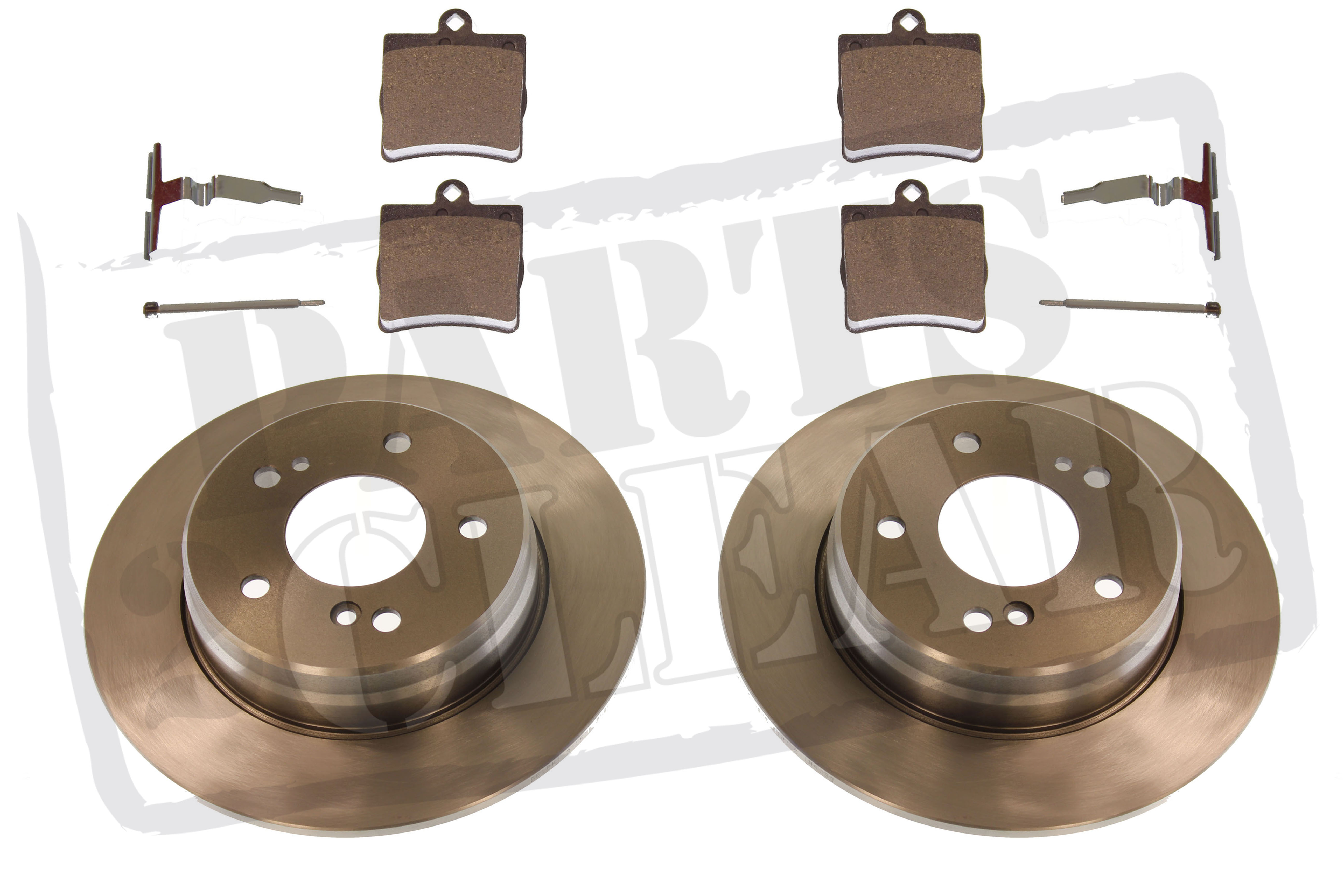 mercedes c220 2 2 cdi rear brake discs pads inc fitting kit w203 c203 s203 ebay. Black Bedroom Furniture Sets. Home Design Ideas