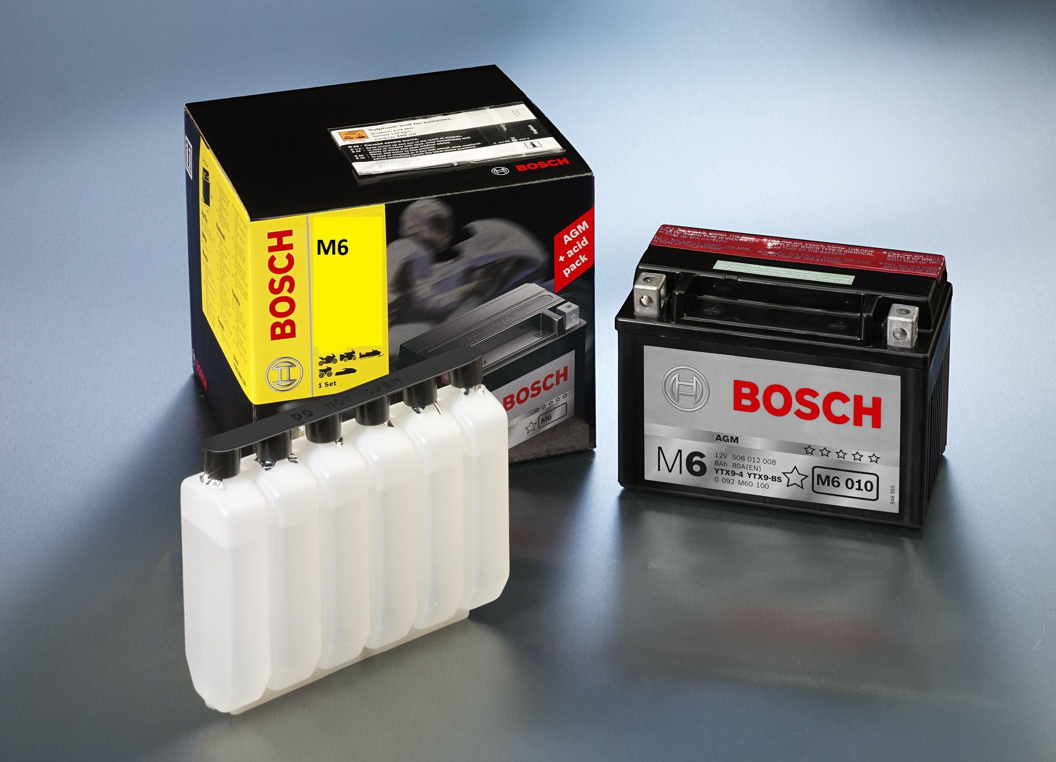 bosch battery m6 006 agm ytx7l bs with acid pack for. Black Bedroom Furniture Sets. Home Design Ideas