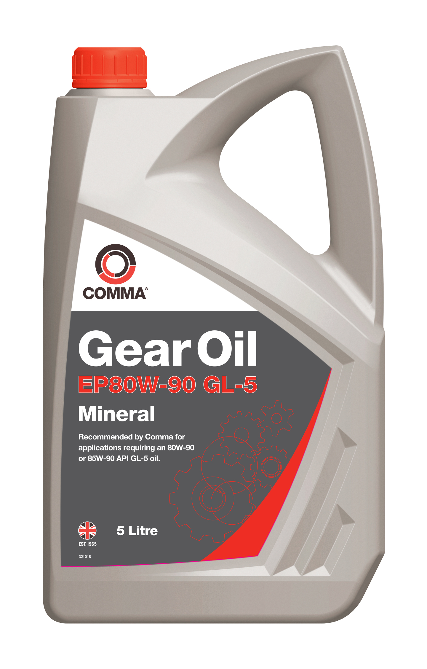 comma mineral gear oil ep80w 90 gl 5 5 litres ep80905l for. Black Bedroom Furniture Sets. Home Design Ideas